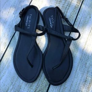 Talbots black leather sandals size 7 NEW